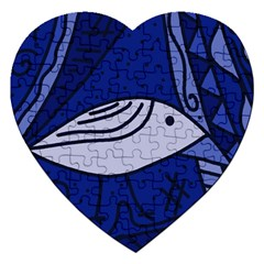 Blue bird Jigsaw Puzzle (Heart)