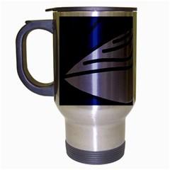 Blue bird Travel Mug (Silver Gray)