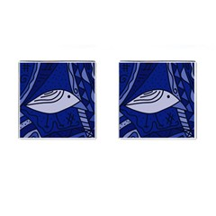 Blue bird Cufflinks (Square)