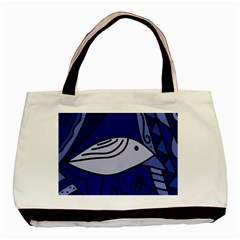 Blue bird Basic Tote Bag (Two Sides)