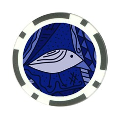 Blue bird Poker Chip Card Guards