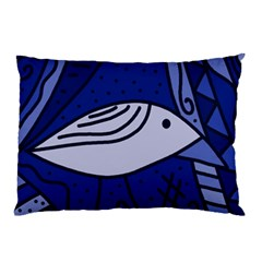 Blue bird Pillow Case