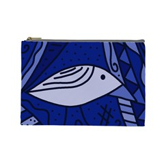 Blue bird Cosmetic Bag (Large)