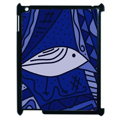 Blue bird Apple iPad 2 Case (Black)