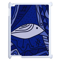 Blue bird Apple iPad 2 Case (White)