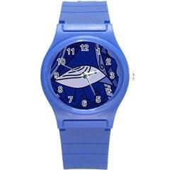 Blue bird Round Plastic Sport Watch (S)