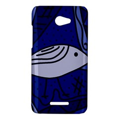 Blue bird HTC Butterfly X920E Hardshell Case