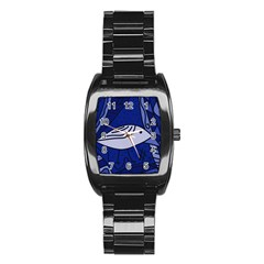 Blue bird Stainless Steel Barrel Watch