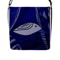 Blue bird Flap Messenger Bag (L)