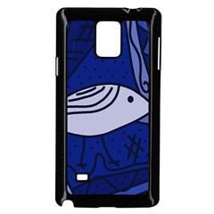 Blue bird Samsung Galaxy Note 4 Case (Black)