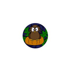 Halloween owl and pumpkin 1  Mini Magnets
