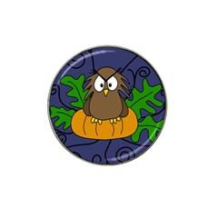 Halloween owl and pumpkin Hat Clip Ball Marker (10 pack)