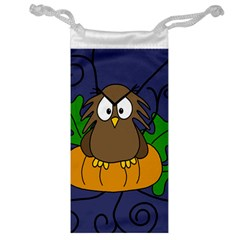 Halloween owl and pumpkin Jewelry Bags