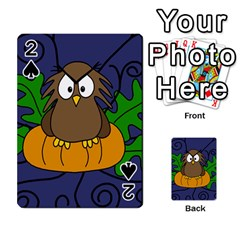 Halloween owl and pumpkin Playing Cards 54 Designs