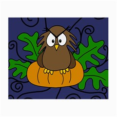 Halloween owl and pumpkin Small Glasses Cloth (2-Side)