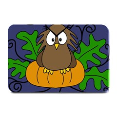 Halloween owl and pumpkin Plate Mats