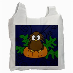 Halloween owl and pumpkin Recycle Bag (One Side)