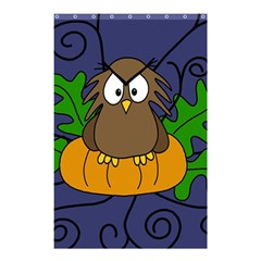 Halloween owl and pumpkin Shower Curtain 48  x 72  (Small)