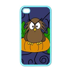 Halloween owl and pumpkin Apple iPhone 4 Case (Color)