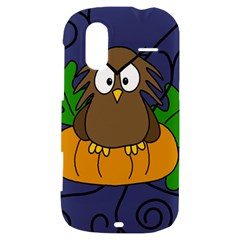 Halloween owl and pumpkin HTC Amaze 4G Hardshell Case