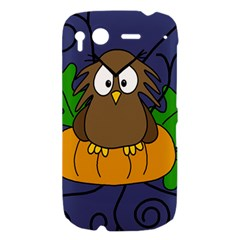Halloween owl and pumpkin HTC Desire S Hardshell Case