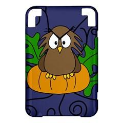 Halloween owl and pumpkin Kindle 3 Keyboard 3G