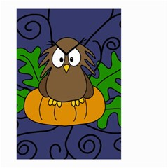 Halloween owl and pumpkin Small Garden Flag (Two Sides)