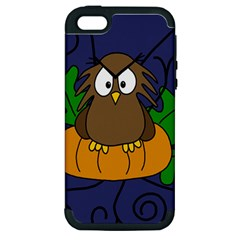 Halloween owl and pumpkin Apple iPhone 5 Hardshell Case (PC+Silicone)
