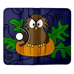 Halloween owl and pumpkin Samsung Galaxy Note II Flip 360 Case