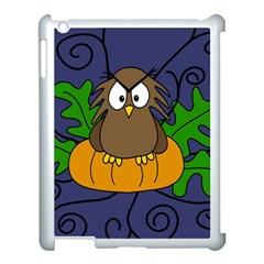 Halloween owl and pumpkin Apple iPad 3/4 Case (White)