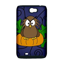 Halloween owl and pumpkin Samsung Galaxy Note 2 Hardshell Case (PC+Silicone)