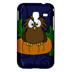 Halloween owl and pumpkin Samsung Galaxy Ace Plus S7500 Hardshell Case