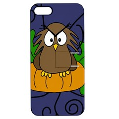 Halloween owl and pumpkin Apple iPhone 5 Hardshell Case with Stand