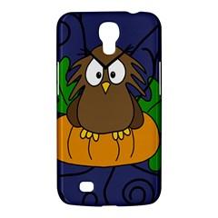 Halloween owl and pumpkin Samsung Galaxy Mega 6.3  I9200 Hardshell Case