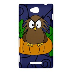Halloween owl and pumpkin Sony Xperia C (S39H)