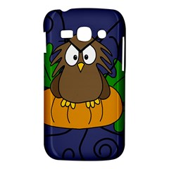 Halloween owl and pumpkin Samsung Galaxy Ace 3 S7272 Hardshell Case