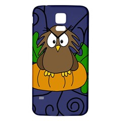 Halloween owl and pumpkin Samsung Galaxy S5 Back Case (White)