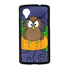 Halloween owl and pumpkin Nexus 5 Case (Black)
