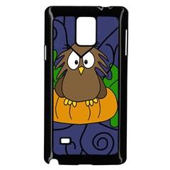 Halloween owl and pumpkin Samsung Galaxy Note 4 Case (Black)