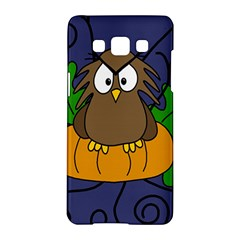 Halloween owl and pumpkin Samsung Galaxy A5 Hardshell Case