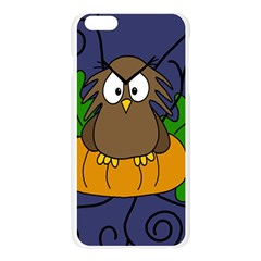 Halloween owl and pumpkin Apple Seamless iPhone 6 Plus/6S Plus Case (Transparent)