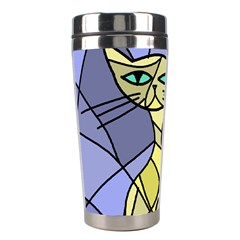 Artistic cat - yellow Stainless Steel Travel Tumblers
