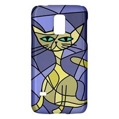 Artistic cat - yellow Galaxy S5 Mini