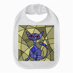 Artistic Cat   Blue Bib