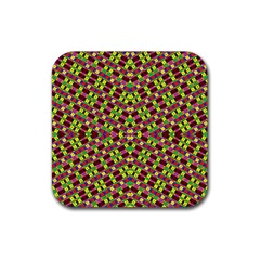 Planet Light Rubber Square Coaster (4 Pack)