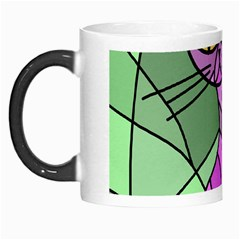 Artistic cat - purple Morph Mugs