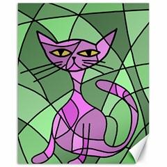 Artistic cat - purple Canvas 16  x 20