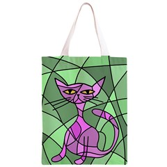 Artistic cat - purple Classic Light Tote Bag