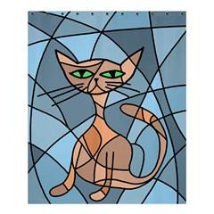 Artistic  cat - orange Shower Curtain 60  x 72  (Medium)