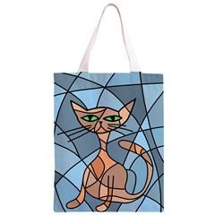 Artistic  cat - orange Classic Light Tote Bag